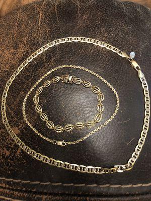 Gold Necklace and Bracelets 10K-14K for Sale in Port St. Lucie, FL