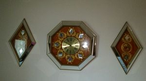 3pc Antique Mirrored Wall Clock *NEGOTIABLE* for Sale in San Diego, CA