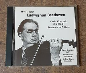 Beethoven Violin Concerto In D Major Compact Disc Music CD for Sale in Fox Lake, IL