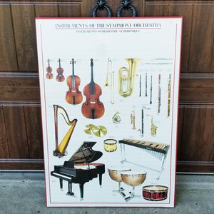 Instruments Of The Symphony Orchestra Poster for Sale in Texas City, TX