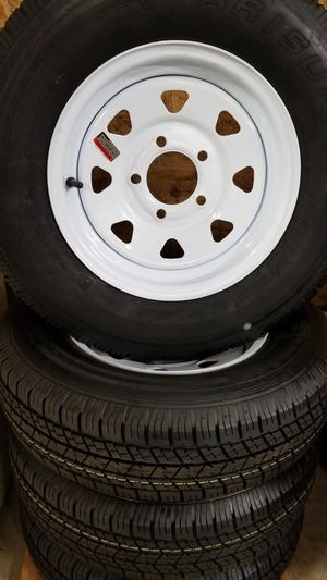 ST175/80D13 TRAILER TIRES AND WHEELS $70 for Sale in Douglasville, GA