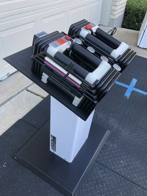 Powerblock adjustable dumbbells with stand for Sale in Hutto, TX
