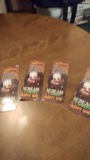 Scream town tickets will go fast. for Sale in Clarks Grove, MN