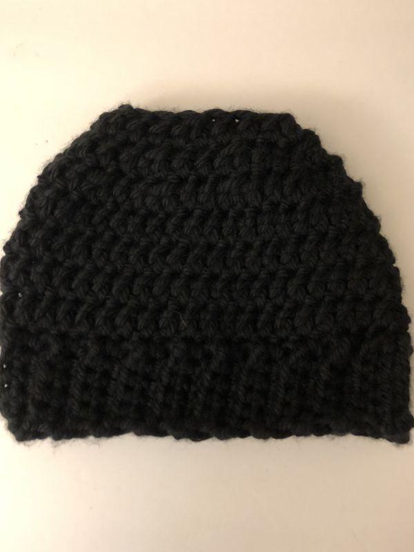 Handmade Messy Bun Hat