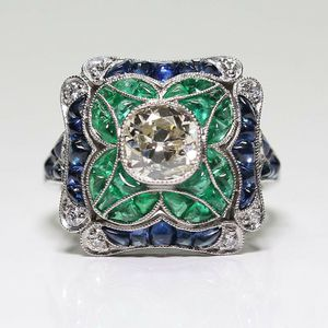 *NEW ARRIVAL* Vintage Art Deco Round Cut White Sapphire Ring SZ 6 / 7 / 8 / 9 *See My Other 300 Items* for Sale in Palm Beach Gardens, FL