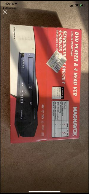 Magnavox DVD player and 4 head vcr. Brand new. for Sale in North Royalton, OH
