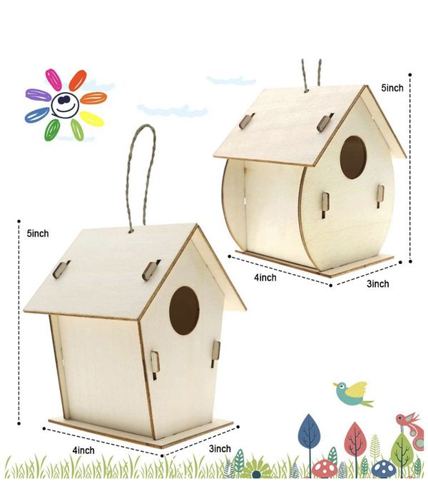 Kids Crafts Wood Arts and Crafts for Kids Ages 8-12 DIY Bird House Kit for Children to Build and Paint Reinforced Design - Creative Kids Activities P