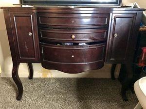 Fancy Wooden Dresser + Mirror for Sale in Wichita, KS