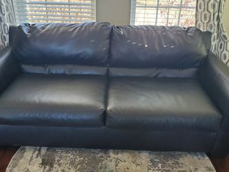 Black Leather Couch for Sale in Littleton,  CO