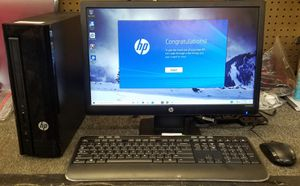HP desktop with monitor ( runs slow) for Sale in Gastonia, NC