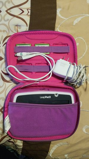 Leap Frog LeapPad3 Pink, with case, 2 games, charger, and usb cable for Sale in Albuquerque, NM