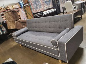 SPL Sofa Bed / Futon with Pillows, Gray for Sale in Santa Ana, CA