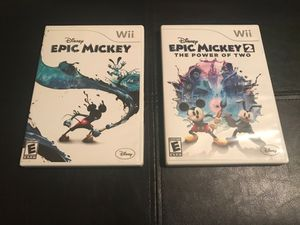 Nintendo Wii Epic Mickey Video Games Bundle for Sale in Houston, TX