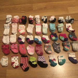 44 pairs of babygirl socks for Sale in Las Vegas, NV