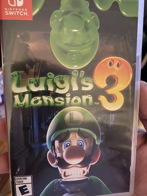 Luigi's haunted mansion 3 Nintendo switch for Sale in Phoenix, AZ