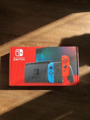 NEW Nintendo Switch Console 32GB Red Blue Joy-Cons V2 In Hand for Sale in Laurel, MD