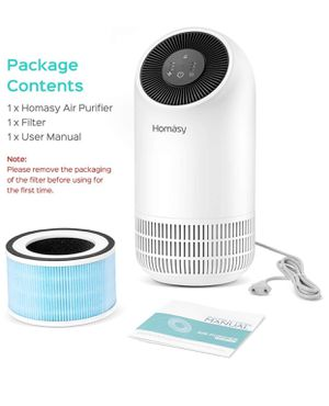 Homasy Air Purifier AP-HM434 with True HEPA & Activated Carbon Filter for Traps Smoke, Odors, Dust, Pet Dander, 3-Speeds Air Cleaner with Optional Ni for Sale in Hacienda Heights, CA