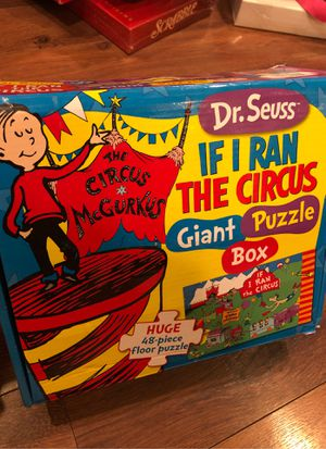 "Dr suess ""if I ran the circus"" floor puzzle - 48 pieces - preschool , homeschool, dr Seuss week for Sale in Buckeye, AZ"