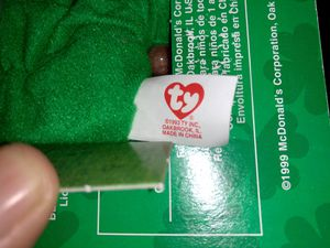 """Erin"" the bear Ty McDonald's toy retired, ""defective tag"" for Sale in Germantown, MD"