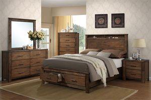 4-Pc Oak Queen Bedroom Set for Sale in Fresno, CA