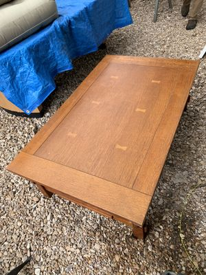 Wood table 50x30, 16 inches tall for Sale in Austin, TX