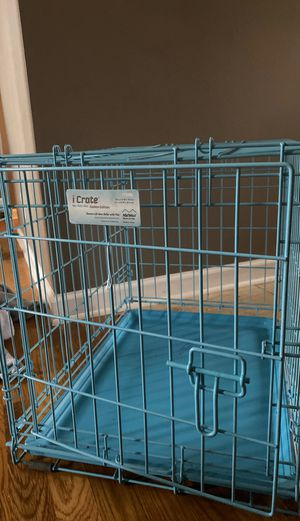 Small blue dog crate for Sale in White House, TN