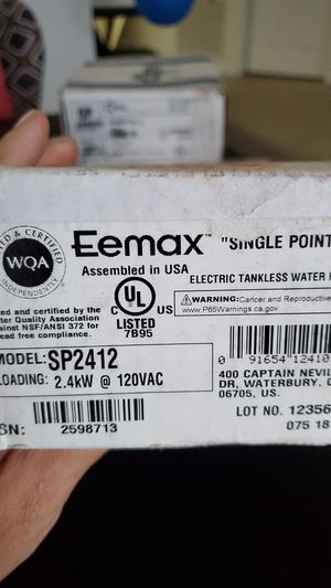 Eemax model SP2412 for Sale in Weston, FL