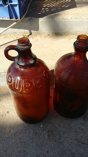 Antique Brown Purex glass bottles for Sale in Riverside, CA