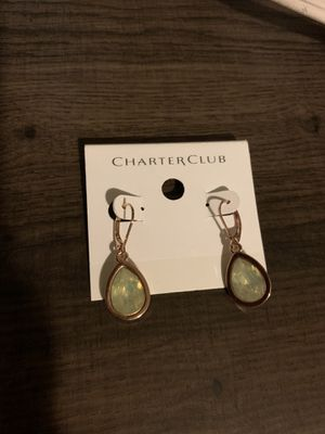 Charter Club earings with green stone for Sale in Los Angeles, CA