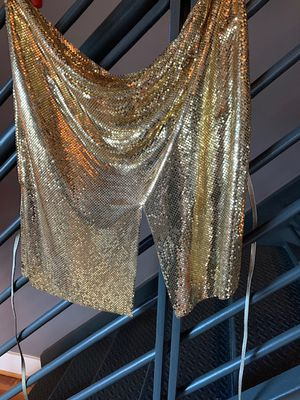 Gold metal mesh halter top for Sale in Washington, DC