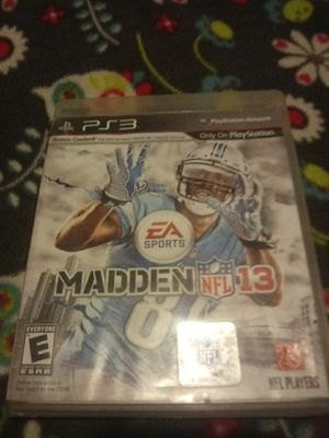 Ps3 madden NFL 13 game for Sale in Nipomo, CA