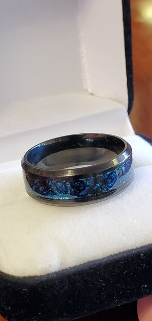 Stainless Steel, Blue Dragon Pattern/Style, Ring Size 8, 9 & 10 for Sale in Portland, OR