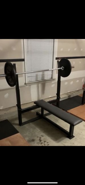 Bar and weights for Sale in Laurel, MD