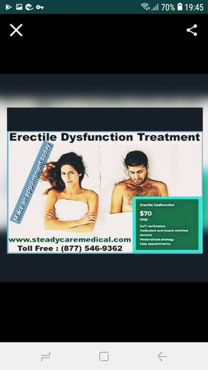 ☆Health & wellbeing ♡Get Medical Erectile dysfunction diagnosis & treatment Deal for Sale in Santa Ana, CA