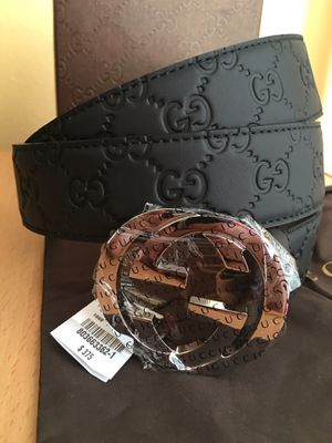 Gucci Black Guccissima Leather Belt 90/36 + more sizes available for Sale in New York, NY
