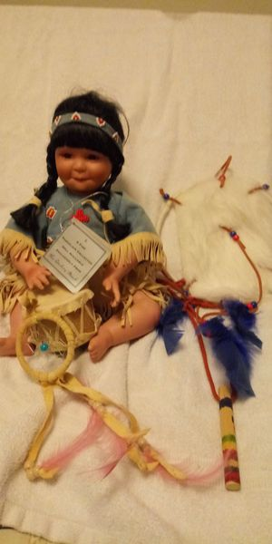 Danbury mint porcelain indian girl drums dream catcher for Sale in Vidor, TX