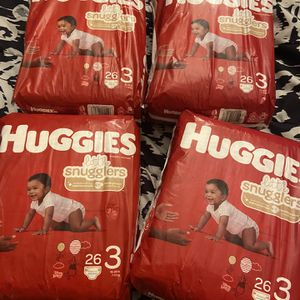 Huggies Little Snuggler Diapers Size3 for Sale in Las Vegas, NV