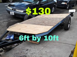 6ft by 10ft flatbed utility atv dirt bike trailer for Sale in Stockton, CA