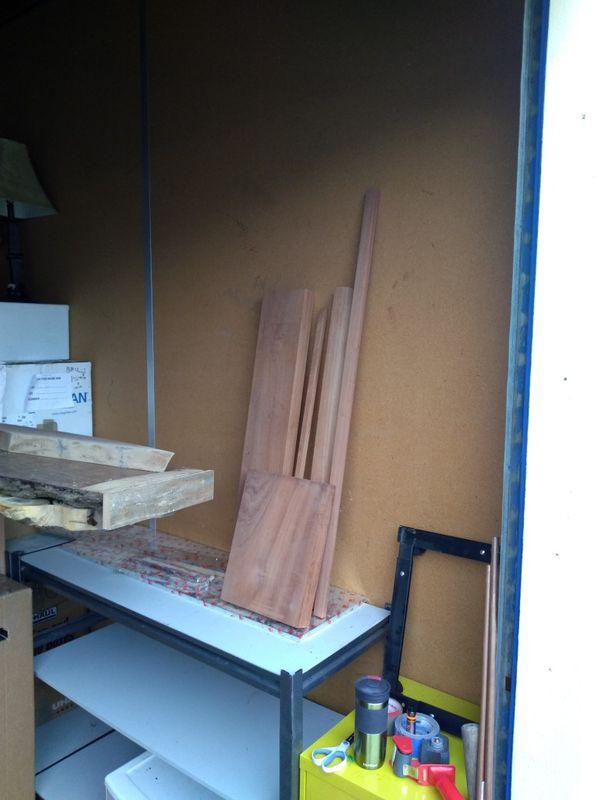 Scrap sapele wood