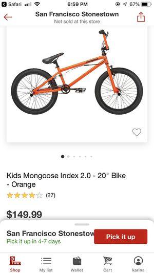 Mono goose 2.0 orange kids bike for Sale in San Francisco, CA