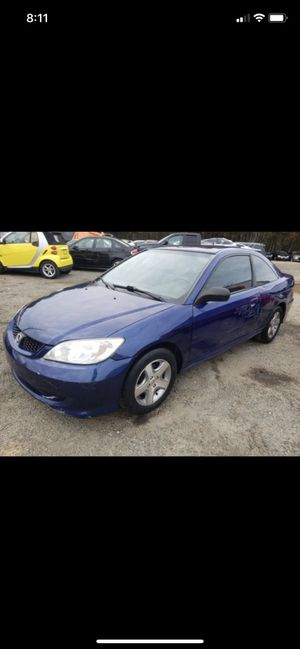 2005 Honda Civic runs drives replaced radiator and thermostat for Sale in Fredericksburg, VA