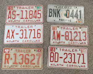 Vintage License Plates $10.00 Each for Sale in Burlington, NC