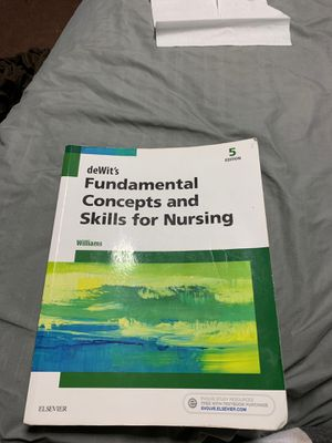 DeWit's Fundamental Concepts and Skills for Nursing for Sale in Ansonia, CT