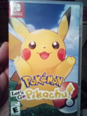 $45 FIRM OR TRADE. POKEMON LET'S GO PIKACHU.. NINTENDO SWITCH for Sale in San Diego, CA