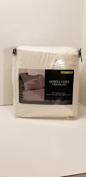Simply vera 800 count egyptian cotton king sheet set for Sale in Piney Flats, TN