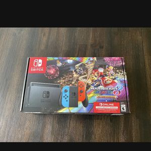 Nintendo switch Brand new with Mario Kart 8 Deluxe and 3 month online for Sale in Fontana, CA