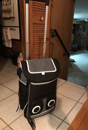 Portable Rolling Cooler with Bluetooth Speaker for Sale in Chicago, IL