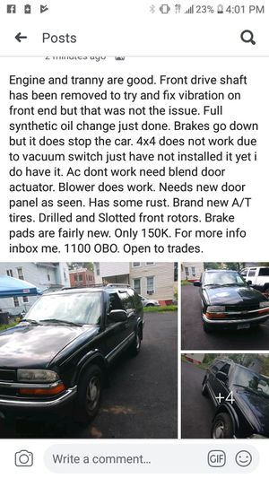 2001 Chevy Blazer for Sale in Newington, CT