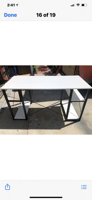 White desk with shelves Assembled, Brand New for Sale in Huntington Beach, CA