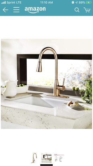 Derengge KF8052 CS Single Handle Pull-Down Kitchen Faucet, 1 Hole or 3-Hole Installation, Meets UPC cUPC NSF AB1953 Lead Free Certification, French B for Sale in Indianapolis, IN